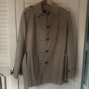 Louis Vuitton Beige leather trench coat